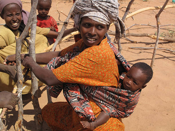 dadaab refugee camp - somalia stock photos and pictures