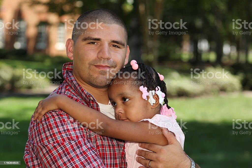 Daddies love stock photo
