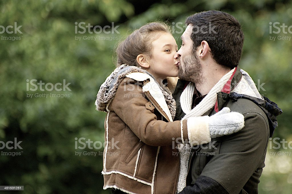 Daddy and daughter royalty-free stock photo