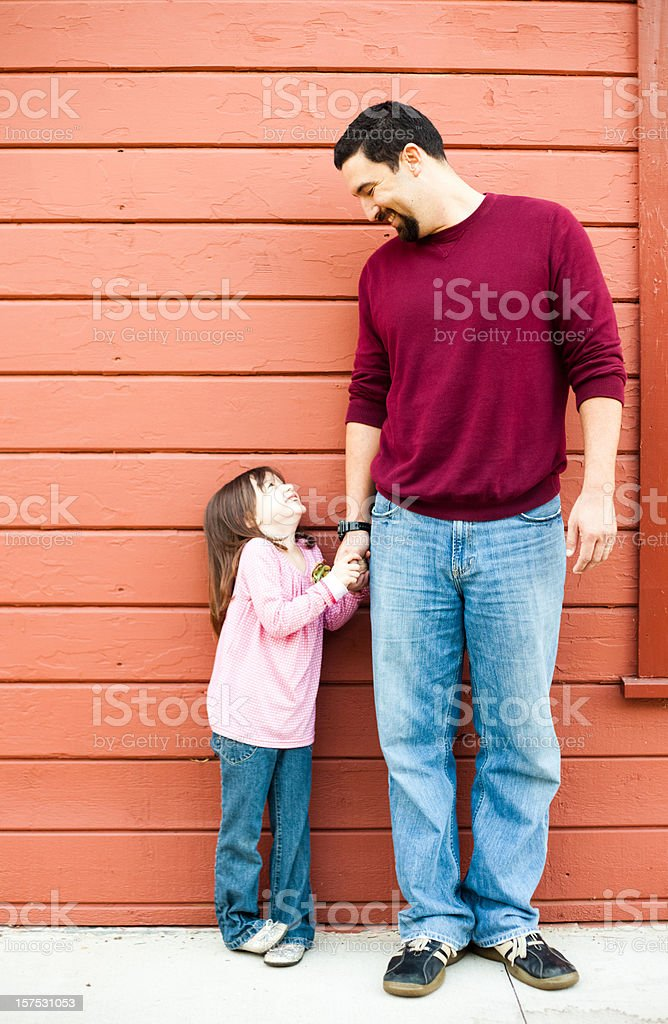 Daddy and his Little Girl royalty-free stock photo
