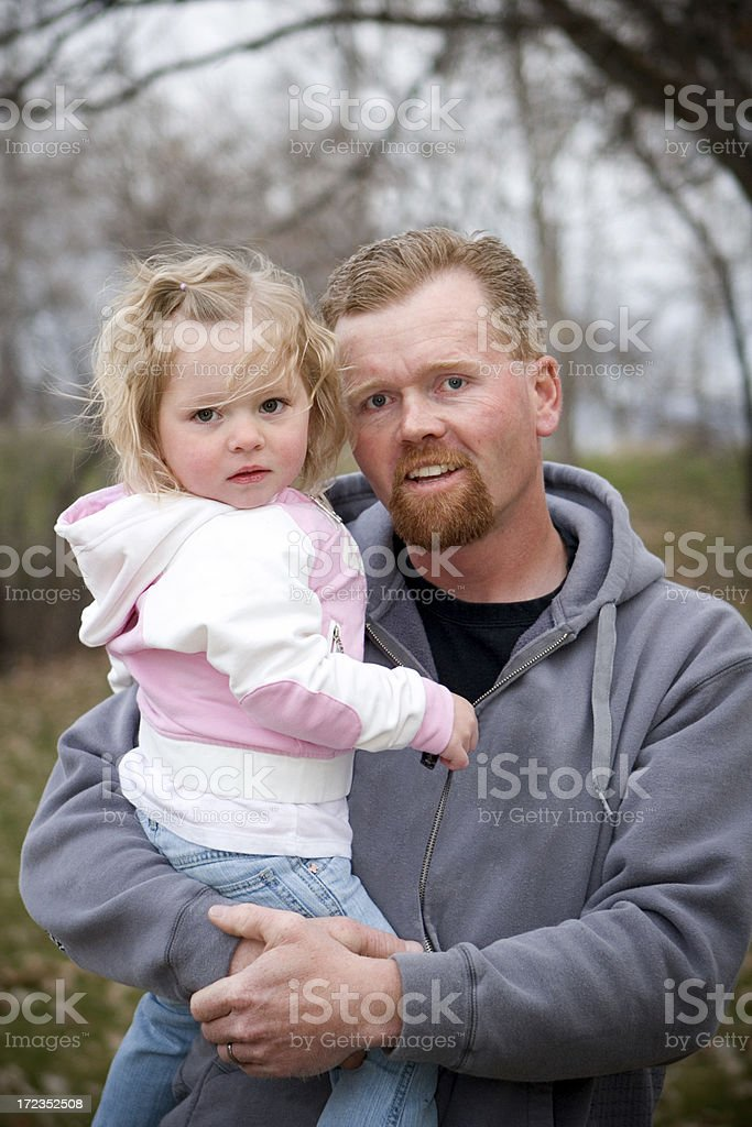 Daddy Daughter royalty-free stock photo