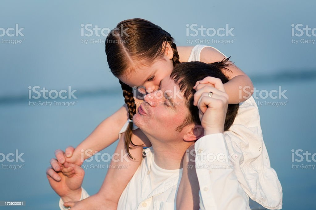 Daddy Daughter Time royalty-free stock photo