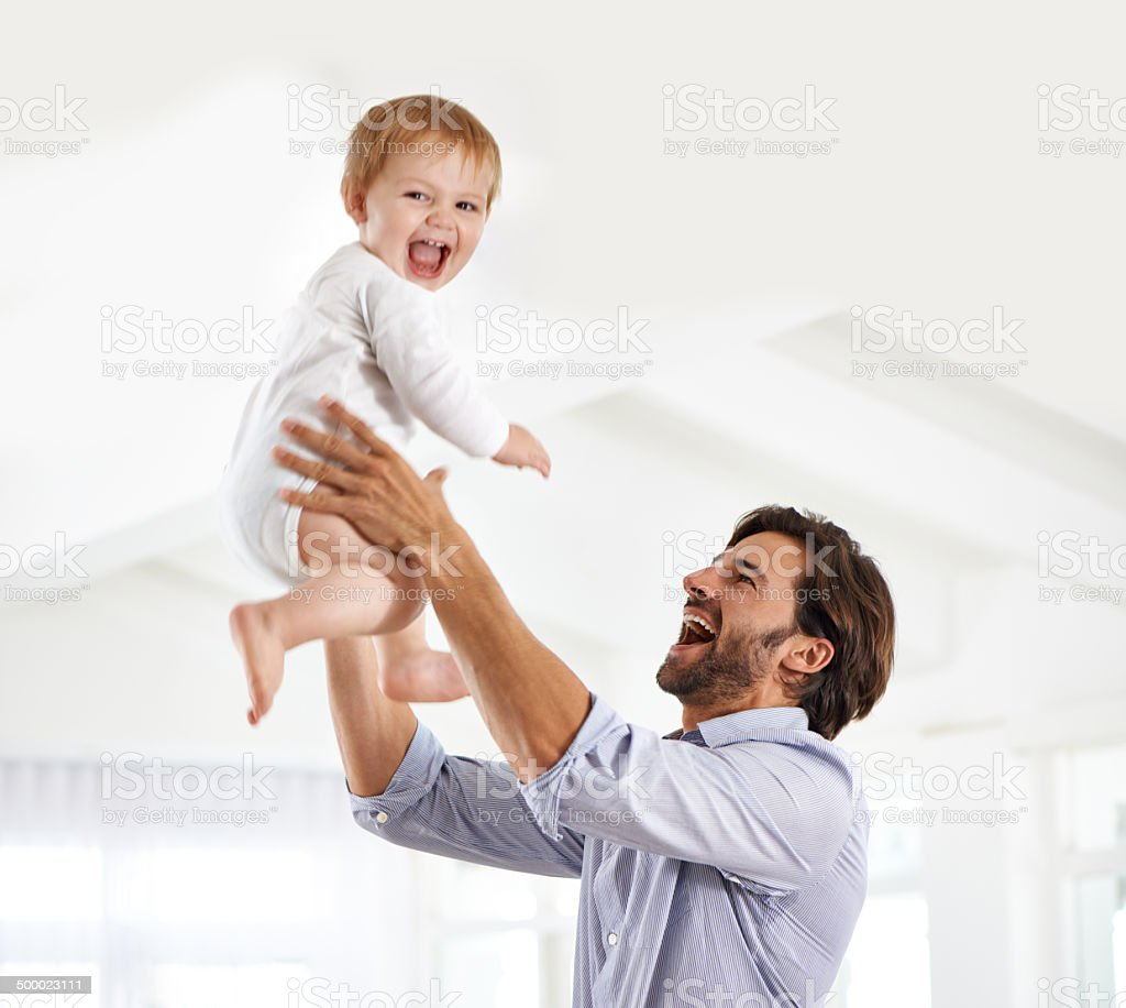 Daddy daycare stock photo