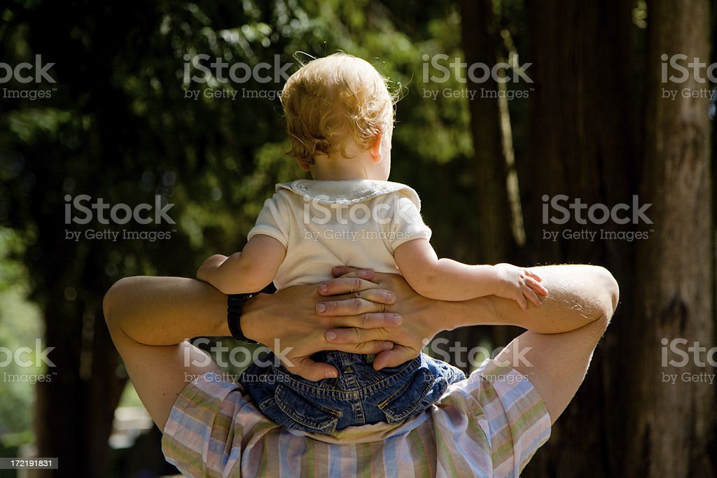 Daddy riding royalty-free stock photo