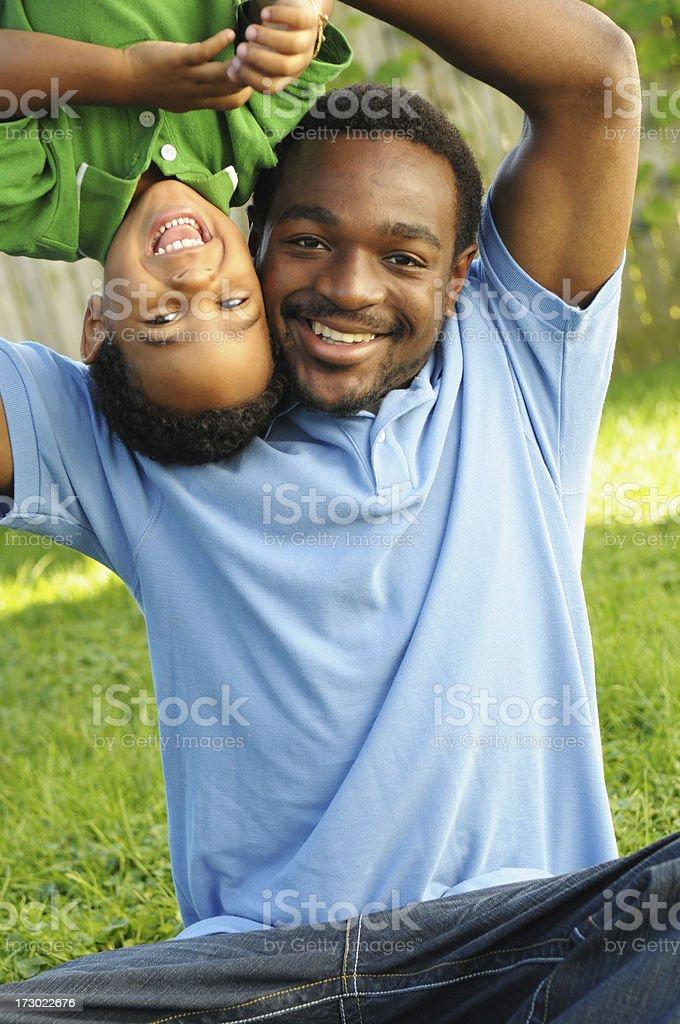 Daddy & Son Fun! royalty-free stock photo