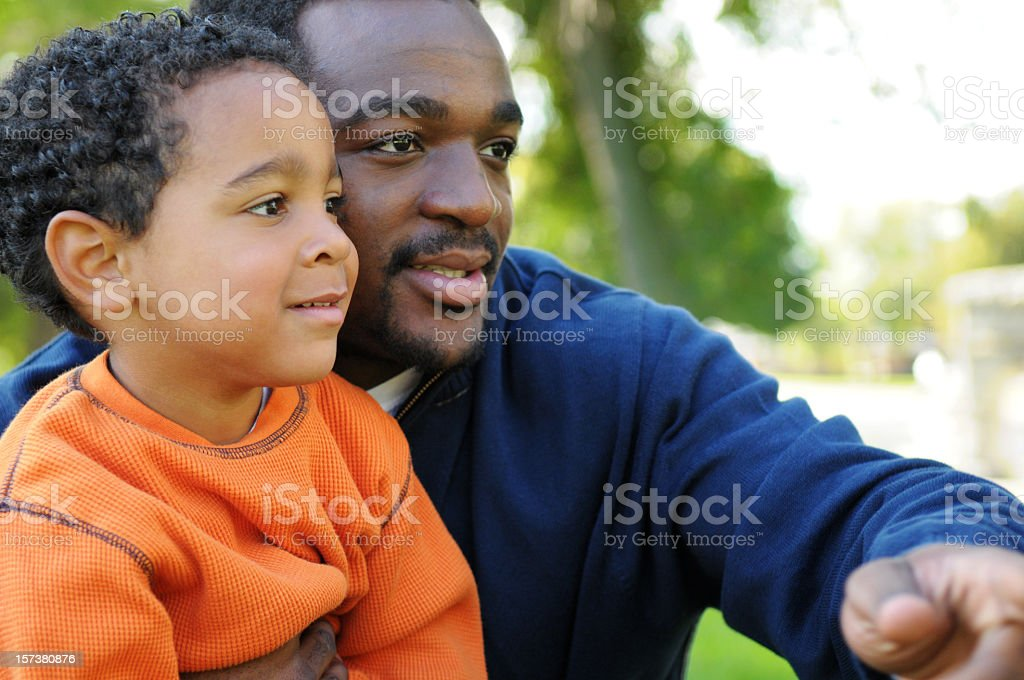 Daddy & Son stock photo