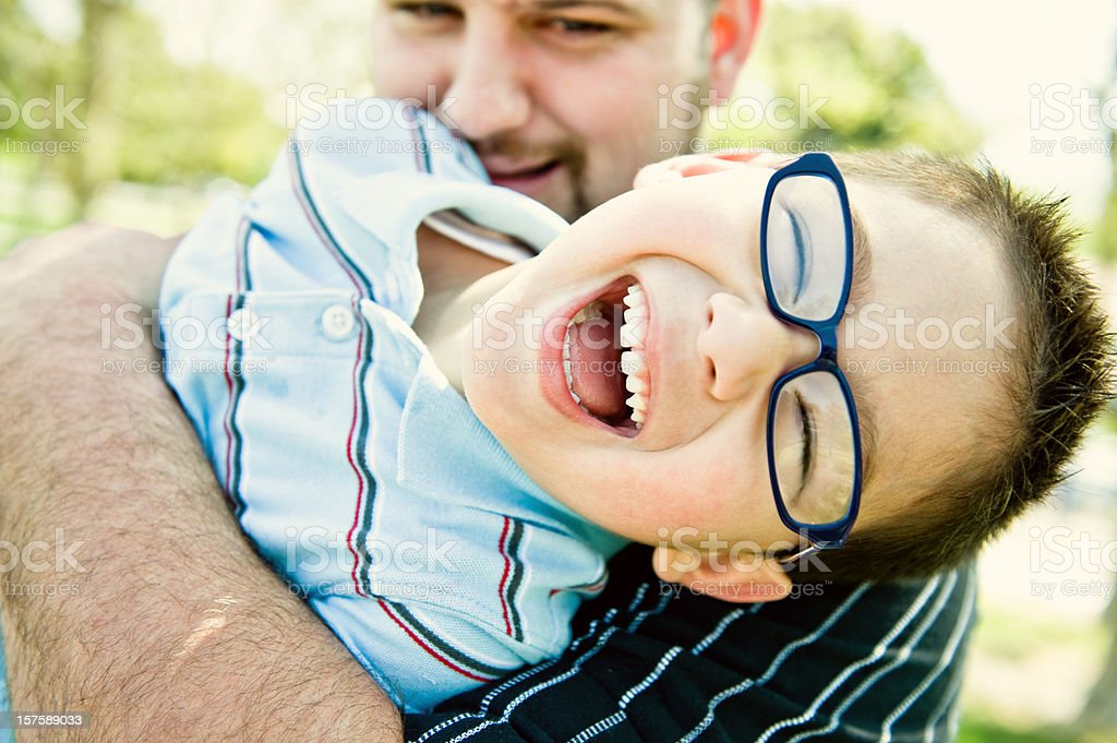 daddy tickling me royalty-free stock photo