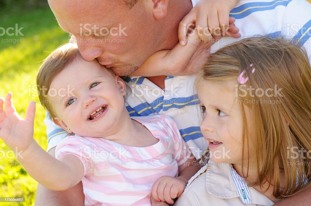 Daddy Time royalty-free stock photo