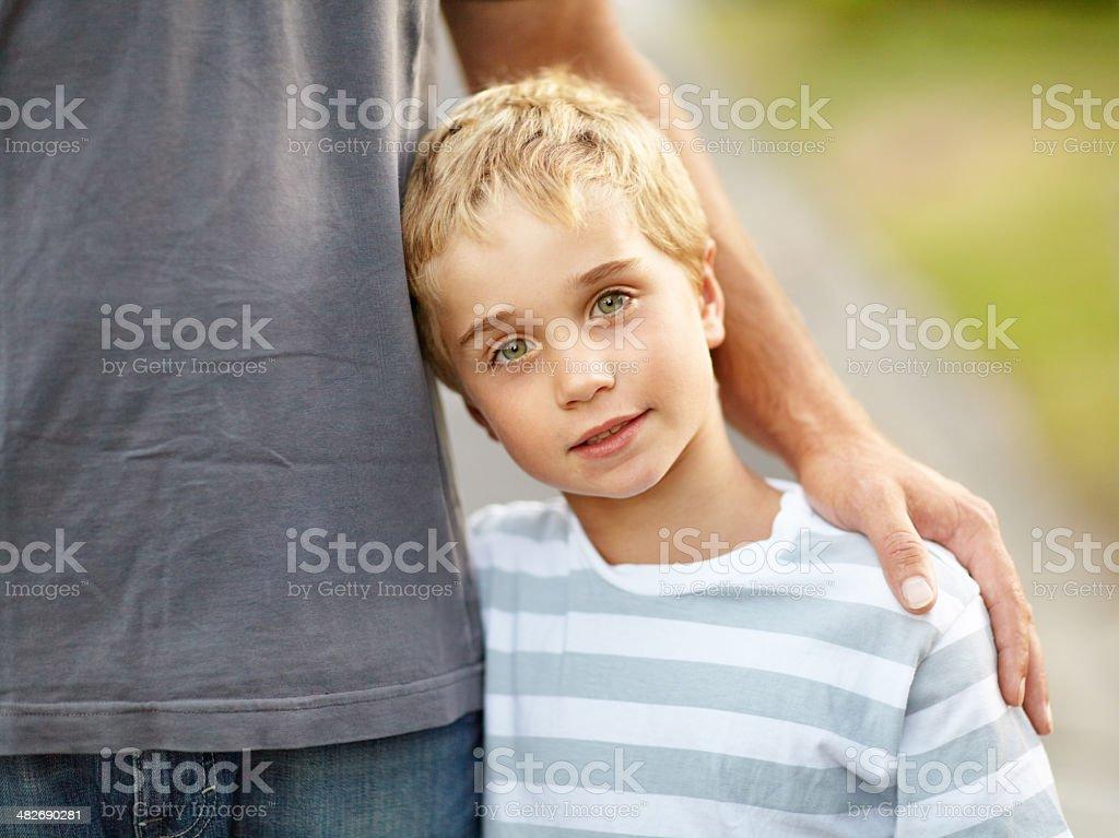 Daddy's boy stock photo