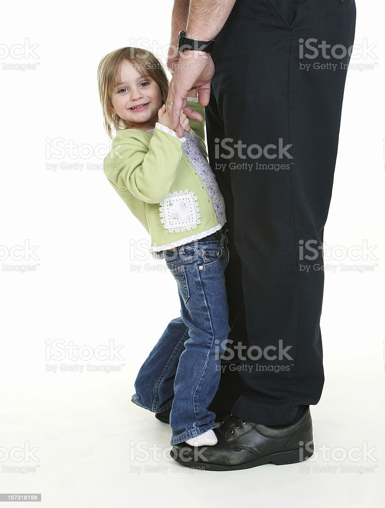 Daddy's Dance royalty-free stock photo