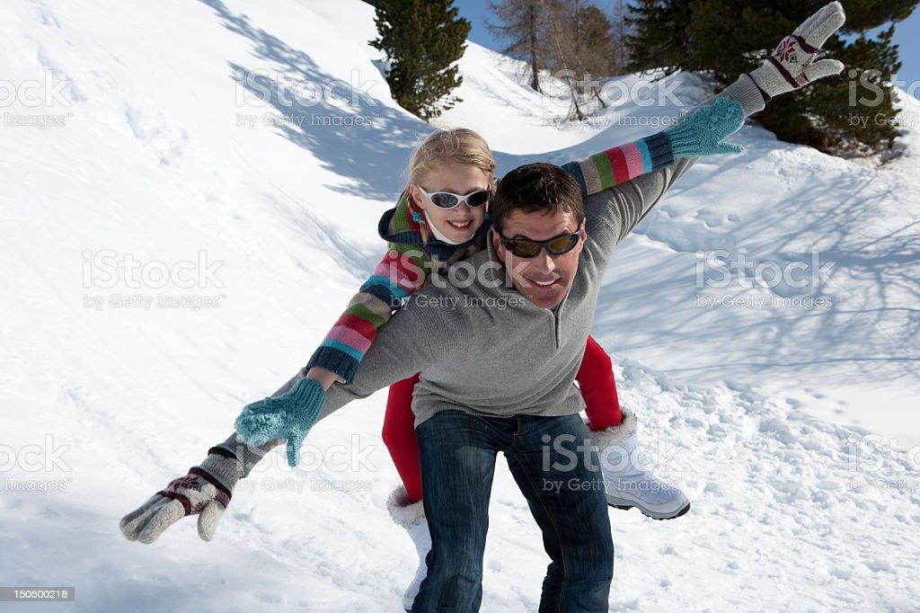 Daddy's girl stock photo