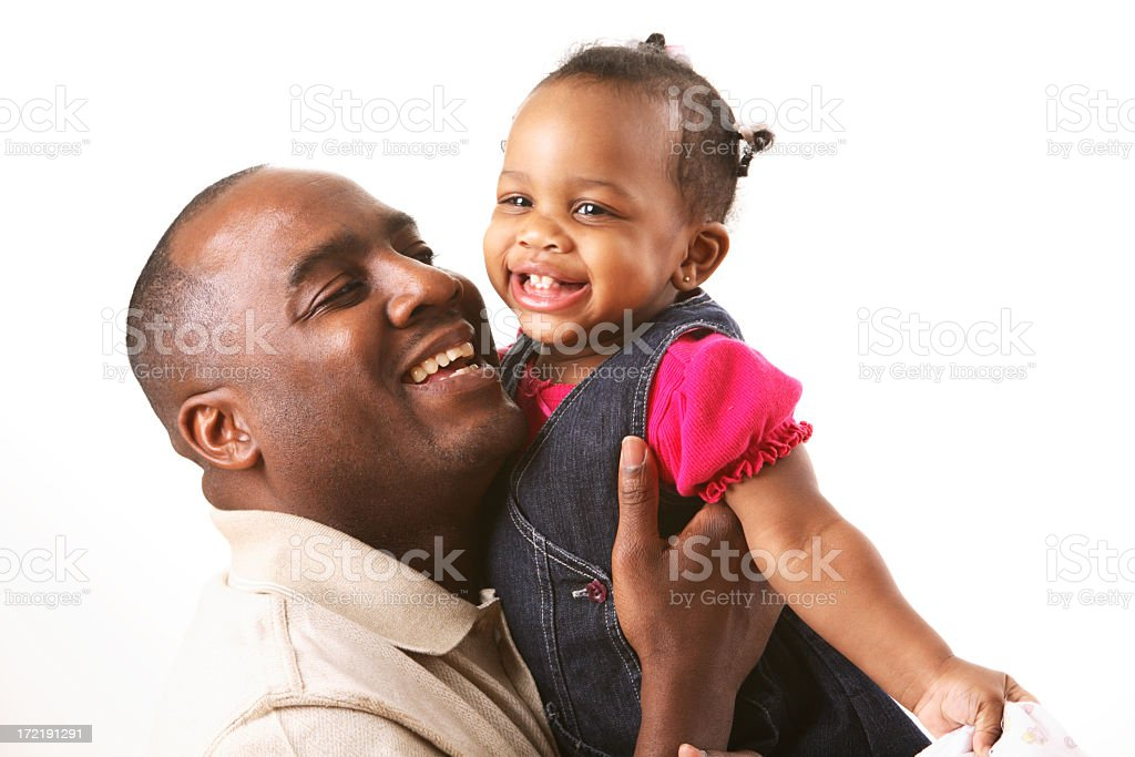 Daddy's girl royalty-free stock photo