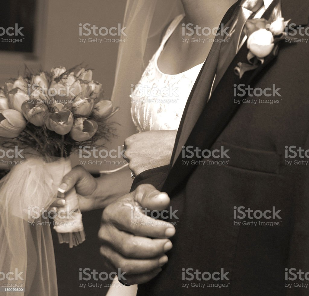 Daddy's hand royalty-free stock photo