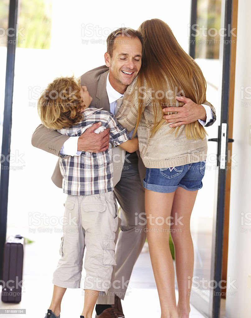 Daddy's home! royalty-free stock photo