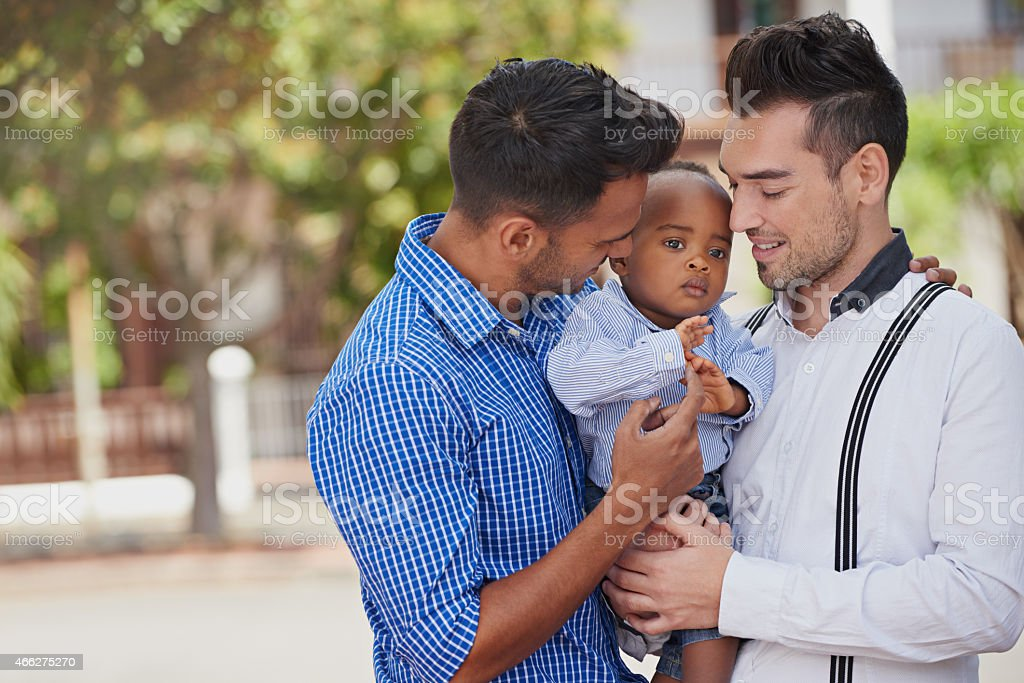 Daddy's little boy stock photo