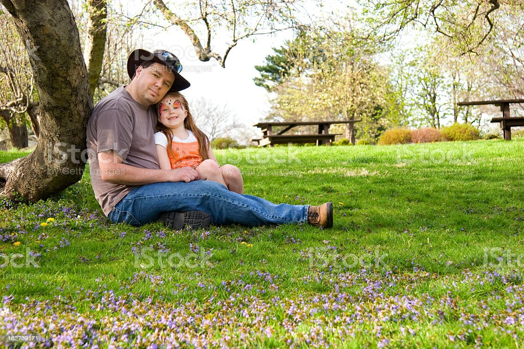 Daddys Little Girl stock photo
