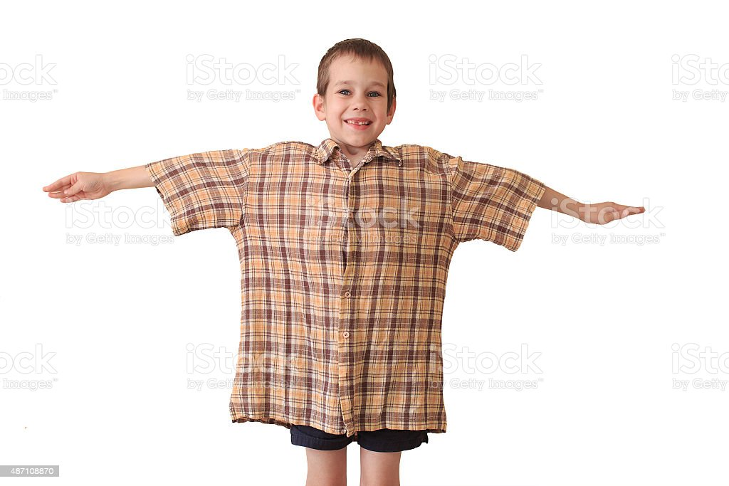 daddy's shirt isolated on white background stock photo