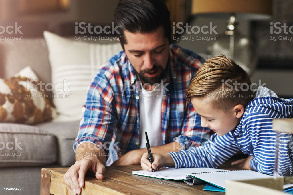 Dad's always around to help out - Royalty-free Adult Stock Photo