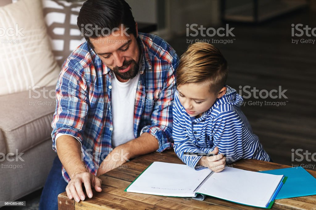 Dad's always ready to offer guidance - Royalty-free Adult Stock Photo