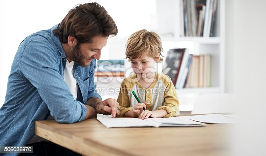 istock Dad's really good at explaining stuff 506036970