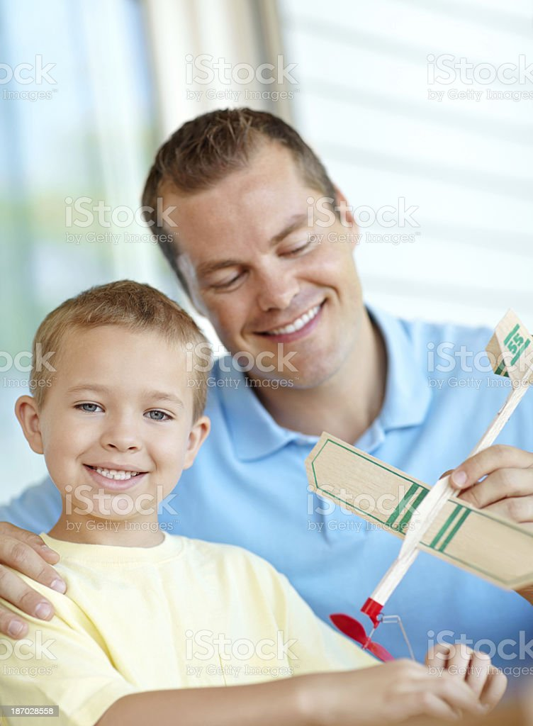 Dad's the best! royalty-free stock photo