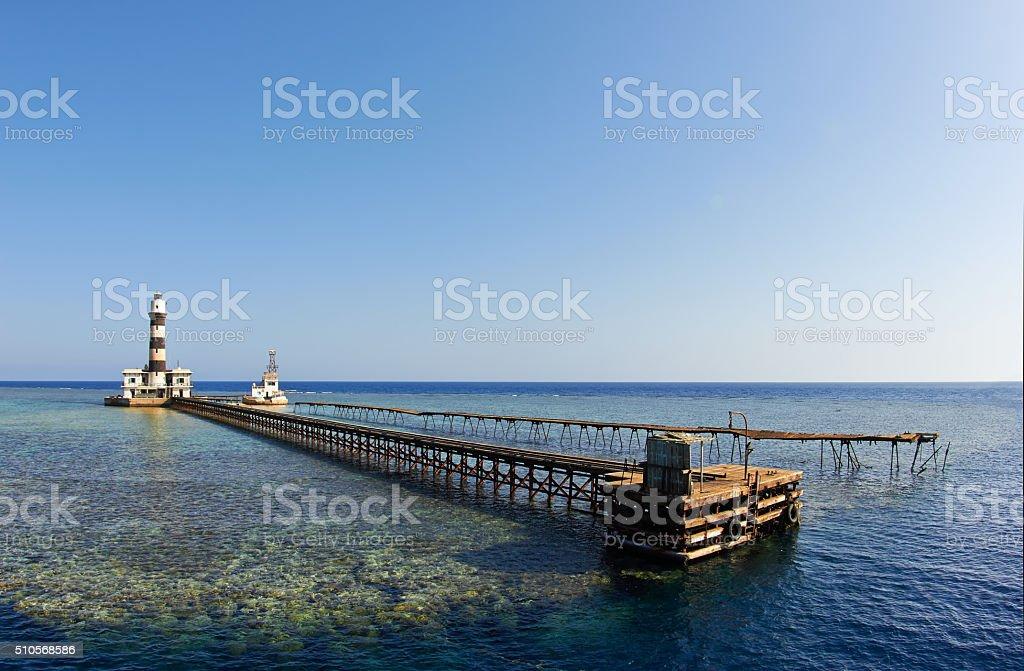 Daedalus island lighthouse stock photo