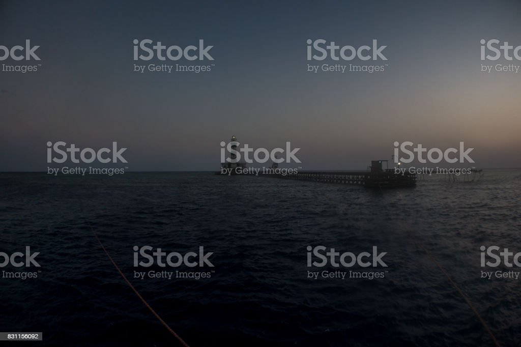 Daedalus reef in the red sea stock photo