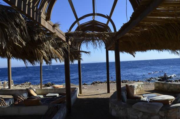 dahab blue hole beach stock photo