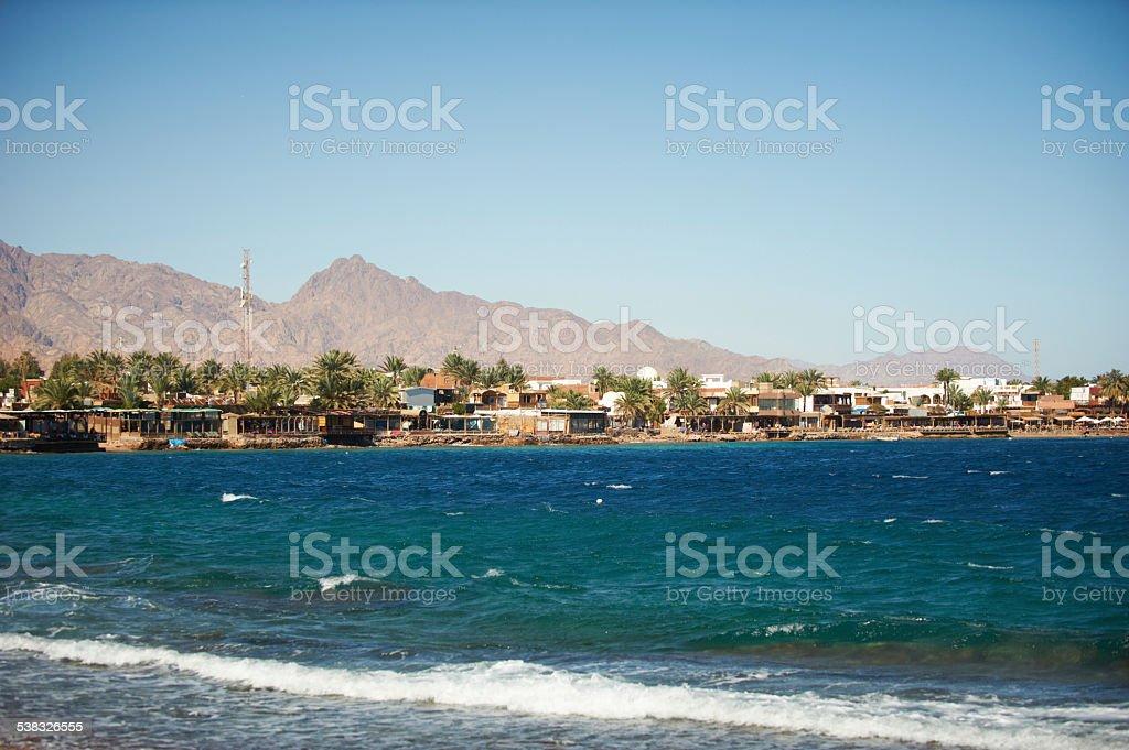 Dahab seafront stock photo