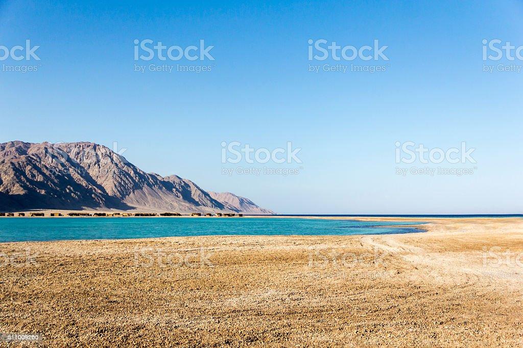 Dahab,Egypt lanscape stock photo