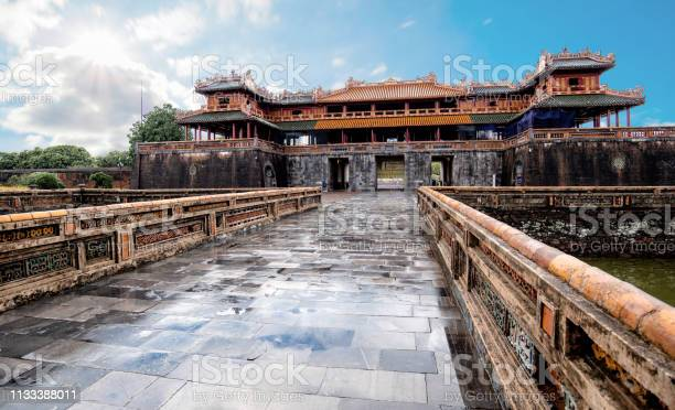 Dai Noi Palace In Vietnam Unesco World Heritage Stock Photo - Download Image Now