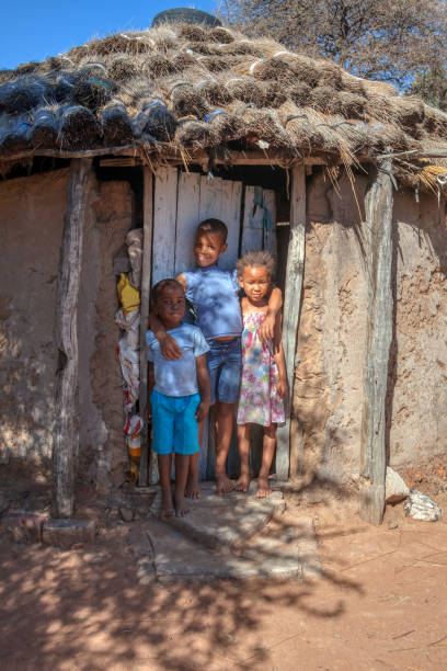 Daily African  life in an a village in the rural  Botswana