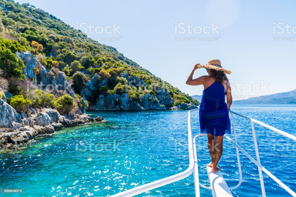 Daily boat trip. stock photo