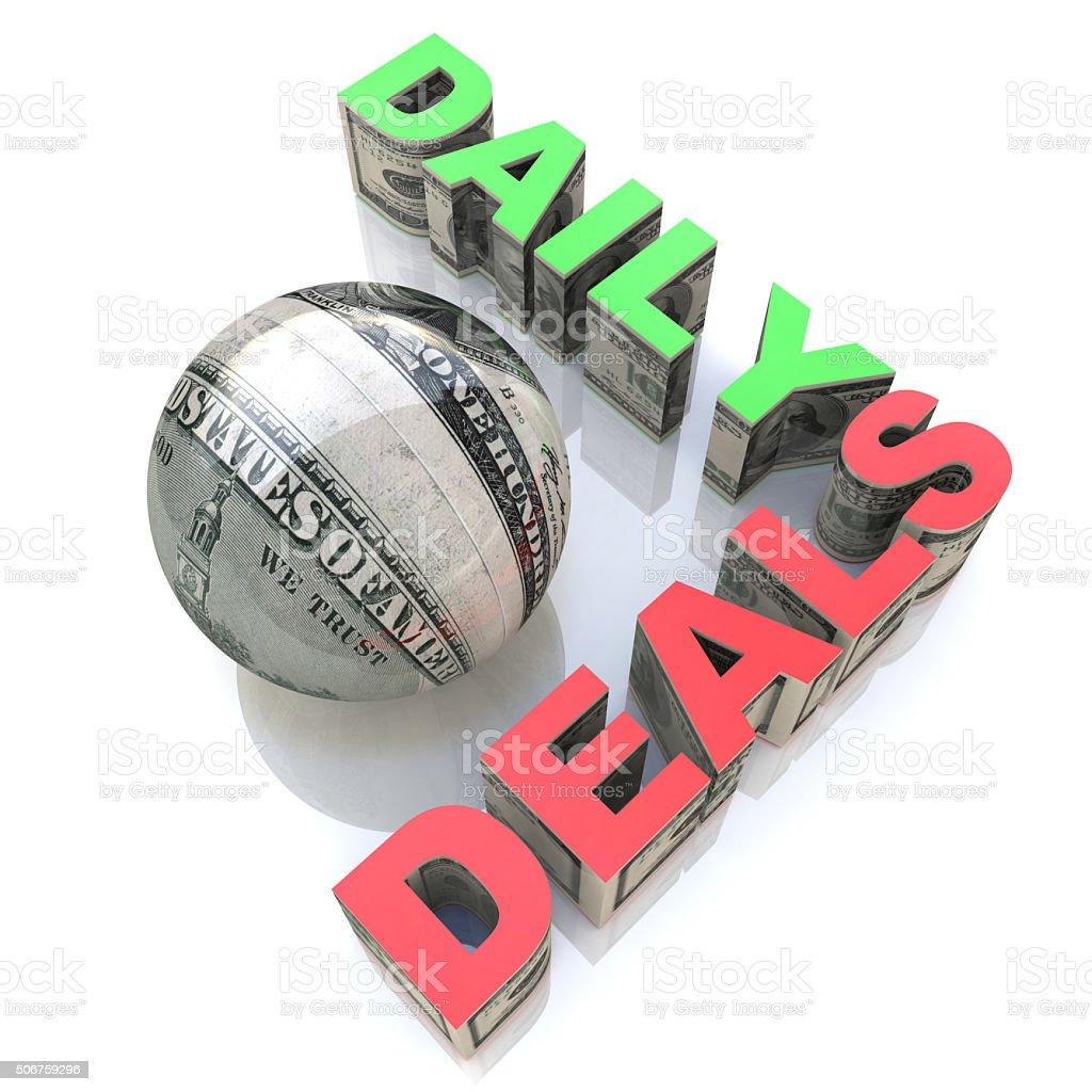Daily Deals stock photo