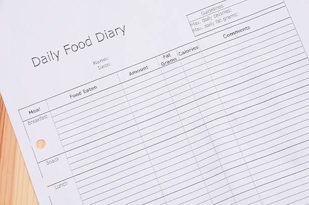 daily food diary stock photo more pictures of aspirations istock