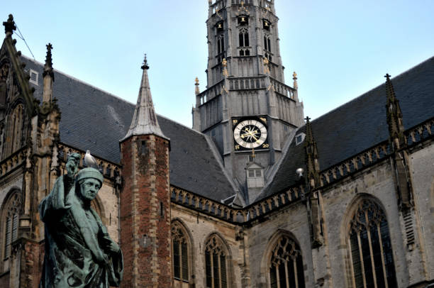 Daily Life in Haarlem, NL stock photo