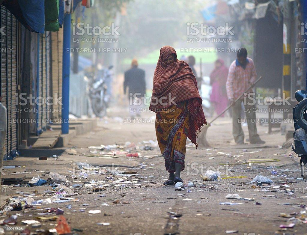 Daily life in New Delhi, India stock photo