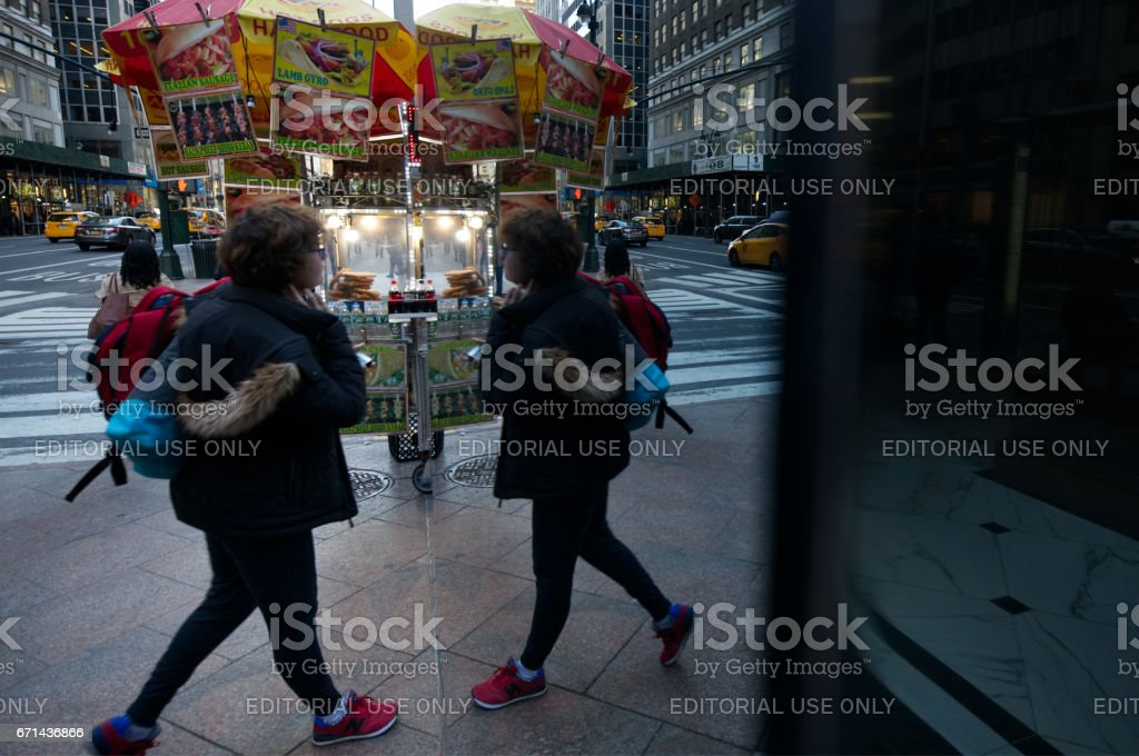 Daily Life in NYC stock photo