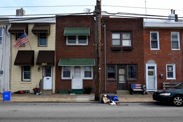 Daily Life in the Bridgeburg Neighborhood of Philadelphia, PA stock photo