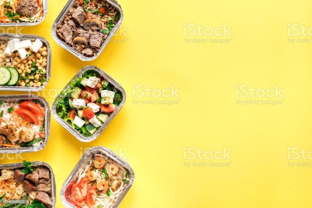 Daily meals delivery - Royalty-free Alimentação Saudável Foto de stock