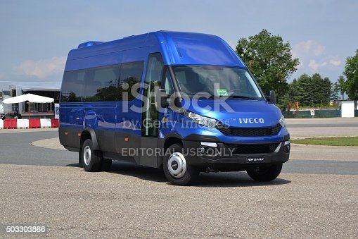 1140988145 istock photo IVECO Daily minibus stopped on the street 503303866