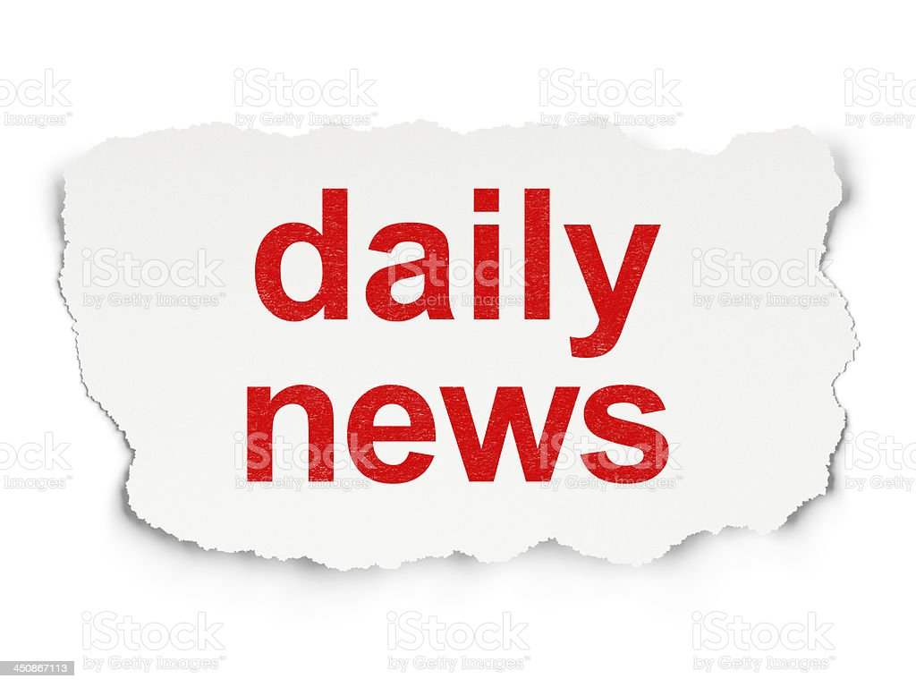 Daily News on Paper background royalty-free stock photo