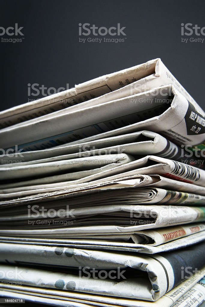 Daily news royalty-free stock photo