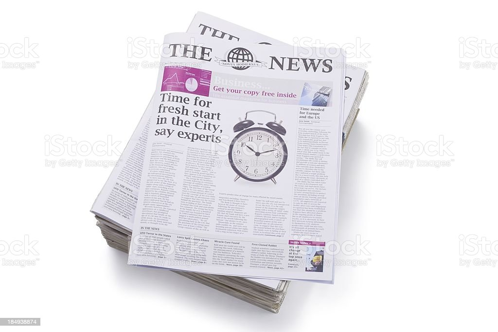 Daily Newspaper... royalty-free stock photo