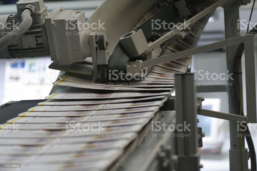Daily newspapers royalty-free stock photo