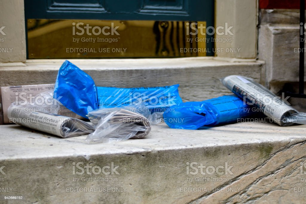 Daily Newspapers stock photo