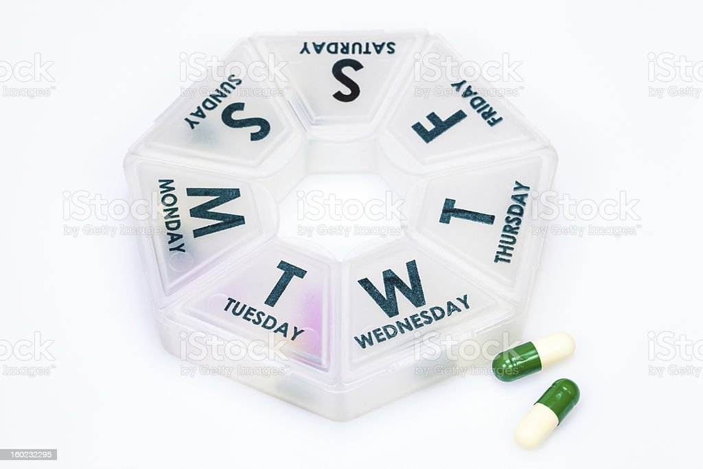 Daily Pill Box royalty-free stock photo
