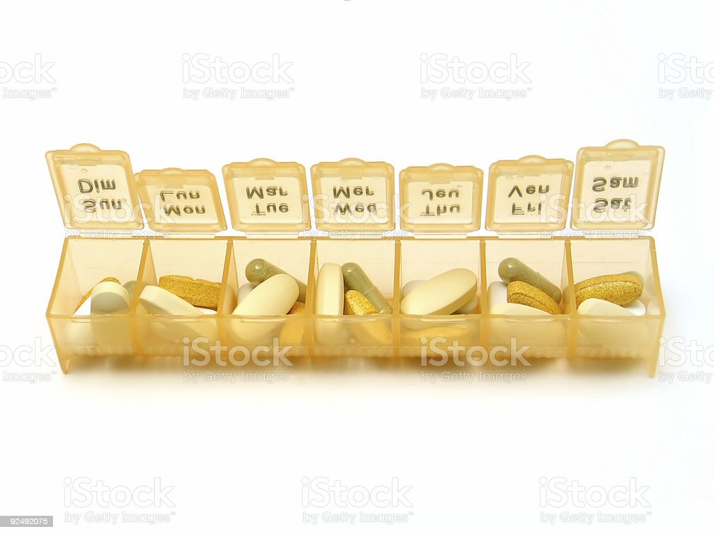 Daily Pills royalty-free stock photo