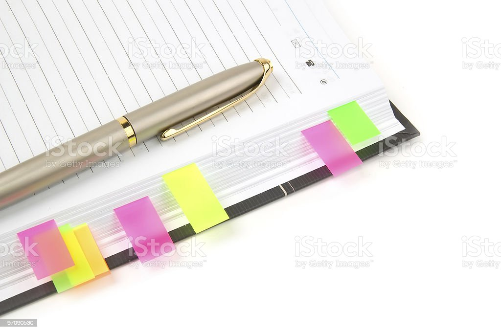 Daily planner. royalty-free stock photo