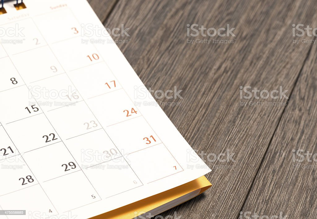 Daily plans. stock photo